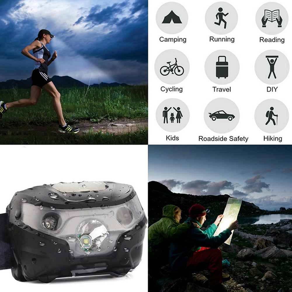 Image 5 - ZK20 Dropshipping  4000LM Mini Rechargeable LED Headlamp Body Motion Sensor Bicycle Head Light Lamp Outdoor Camping Flashlight-in Headlamps from Lights & Lighting
