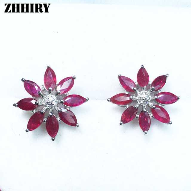 designer buy earring product ruby diamond earrings detail gold natural