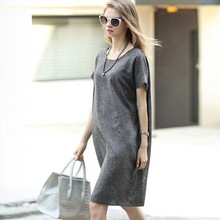 Summer Brand Style Linen font b Maternity b font Dresses O neck Short Sleeve Slim Nursing
