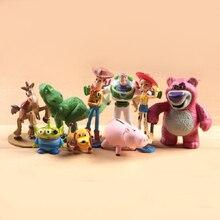 Anime figura 9 unids set Toy Story 3 Buzz Lightyear Woody Jessie PVC figura  de acción coleccionables modelo de juguete niños reg. 48d2ba00230