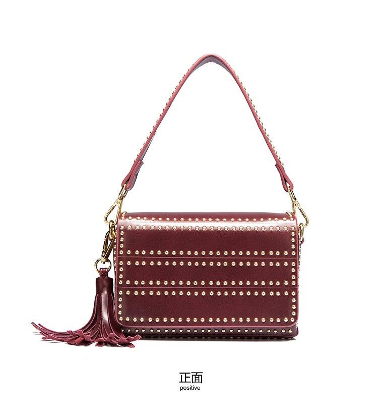 Delle Donne di modo Borse a Tracolla In Pelle Rivetto Crossbody Borse a Spalla Shopping Bag Femminile Borse Pochette Bolsa Feminina