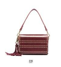Модные женские туфли кожа Курьерские сумки заклепки Crossbody сумки на плечо женская сумка-шоппер Сумки клатчи Bolsa Feminina