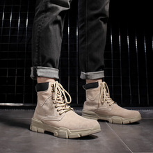 Hargrove Brand Men Boots Big Size 38-48 Men Winter Boots Lace-Up Casual Ankle Snow Boots Mens Fashion Sneakers Work Shoes Man