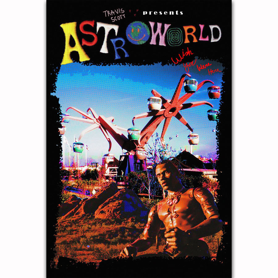 88c639a83203 FX2426 Travis Scott Astroworld New Custom Rap Music Singer Star Album Cover  Poster Art Silk Canvas