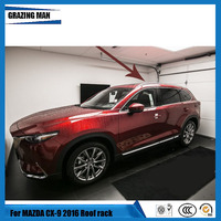 High quality Aluminium alloy screw install side rail bar roof rack for Mazda CX 9 cx9 2016 2017 2018 16 17 18