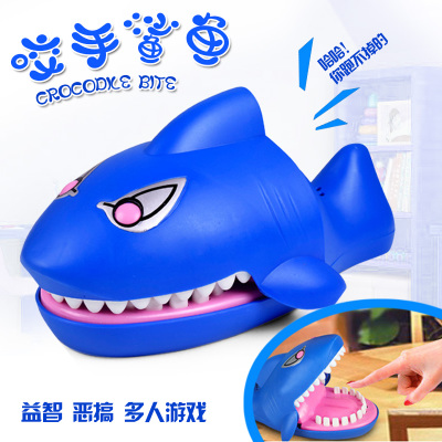 1818Pmo Trick toys whimsy funny strange new toy adult creative scary shark bite finger children fun gifts 45cm and 37cm