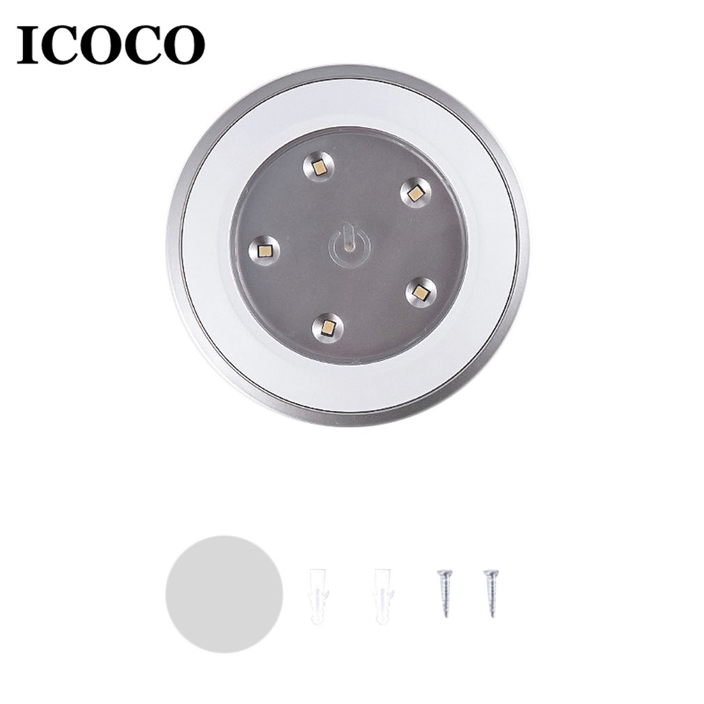 ICOCO Wireless Press Design LED Night Light Battery Powered Hallway Pathway Lamp for Home Cabinets Closets Kitchen Drop Ship