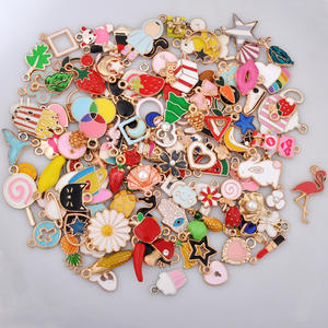 Enamel-Charms Pendants Earring Bracelet Assorted Jewelry-Making Dangle Mixed-Lot Metal