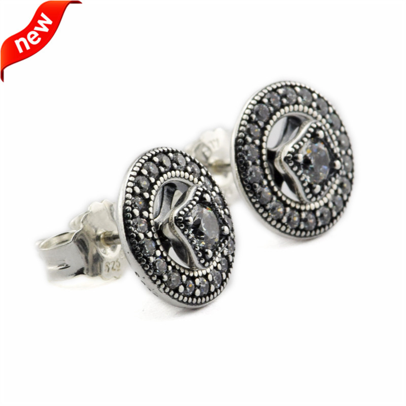 6bd5bc4eafca6 Vintage Allure Stud Earrings 100% 925 Sterling Silver Fashion Jewelry Free  Shipping
