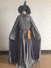 free shipping custom made Lord Of The Rings Gandalf Wizard Cosplay Costume for Halloween