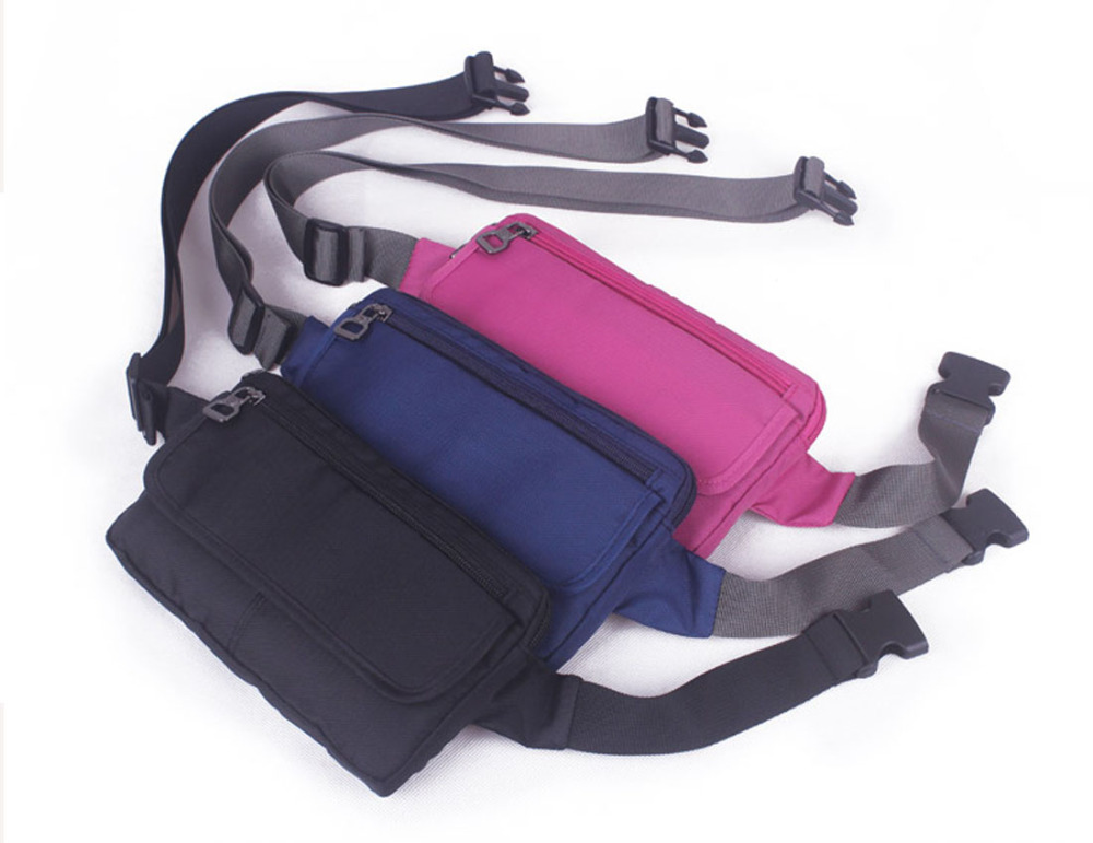 Unisex Top Quality Waterproof Polyester Waist Fanny Pack Belt Hip Cell Mobile Phone Case Cover Antitheft Purse Bag Pouch Small