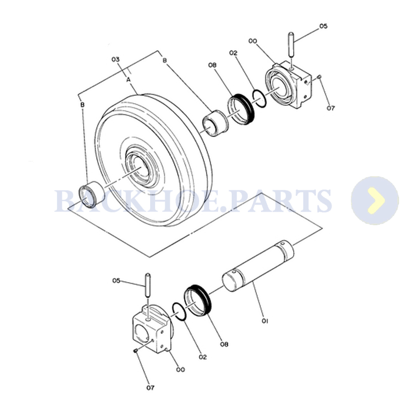 Idler 9066393 for Hitachi EX200 EX200K EX220 RX2000-in