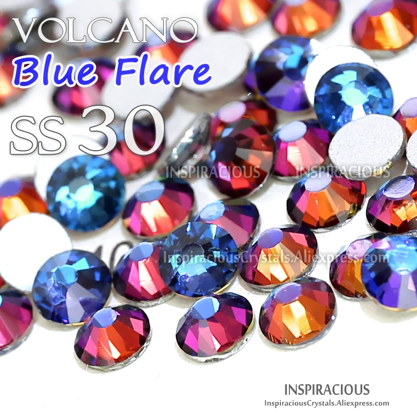 2018 new color SS30 288Pcs/Bag Volcano Blue flare Nail Rhinestones on nail manicure art decorations glitters Non HotFix crystals я immersive digital art 2018 02 10t19 30