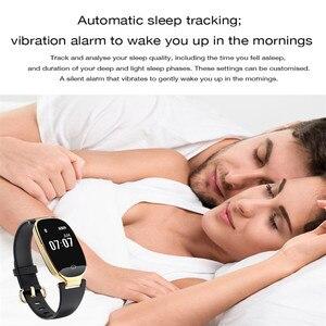 Image 4 - بلوتوث مقاوم للماء ساعة ذكية النساء السيدات الموضة مراقب معدل ضربات القلب جهاز تعقب للياقة البدنية Smartwatch Mujer ل IOS أندرويد