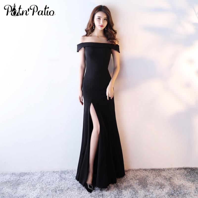 PotN\'Patio Elegant Mermaid Evening Dresses Black 2017 New Off The ...