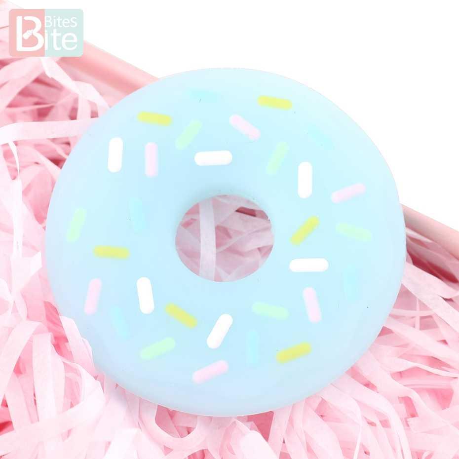Укусы 1 шт. 50 мм детский силиконовый Прорезыватель пончик полупрозрачный кулон для кормящих браслетов пищевой детский Прорезыватель Товары для детей