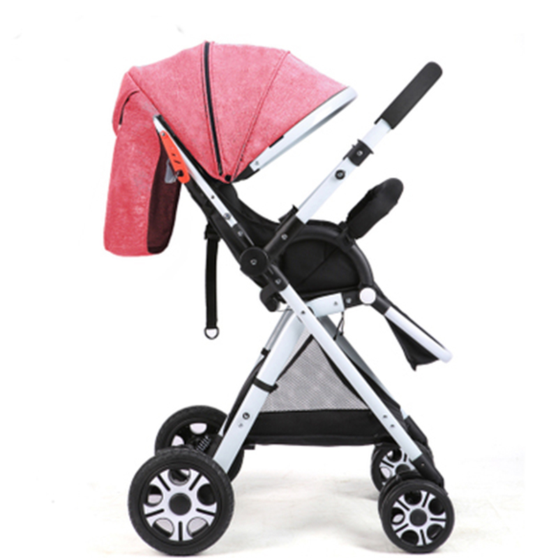 2017 New baby stroller high view light folding baby blanket Two-way cart for mothers baby pram china cheap 8 gift baby carriage mige stroller baby trolley cart folding baby carriage baby cart can be lying on the baby cart portable cart pram with 3 gift