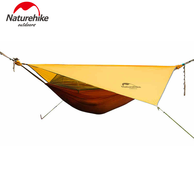 Naturehike Hammock Portable Camping Hammock With Mosquito Nets Single Person Hammock Swing Grey Orange 2 people portable parachute hammock outdoor survival camping hammocks garden leisure travel double hanging swing 2 6m 1 4m 3m 2m
