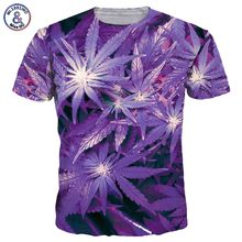 2017 Mr.1991INC New Fashion Men/Women 3d T-shirt Print Beautiful Purple Maple Leaf Summer Quick Dry Tshirts Tops Tees