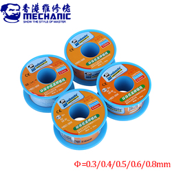 2Pcs/lot MECHANIC Lead-Free Solder Soldering Wire 0.3/0.4/0.5/0.6/0.8mm 40g Sn42/Bi58 Soldeer Tin Welding Wire