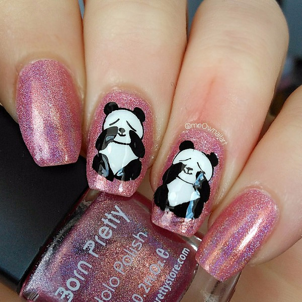 1 Pc Born Pretty Cute Panda Design Nail Stamping Plates Template