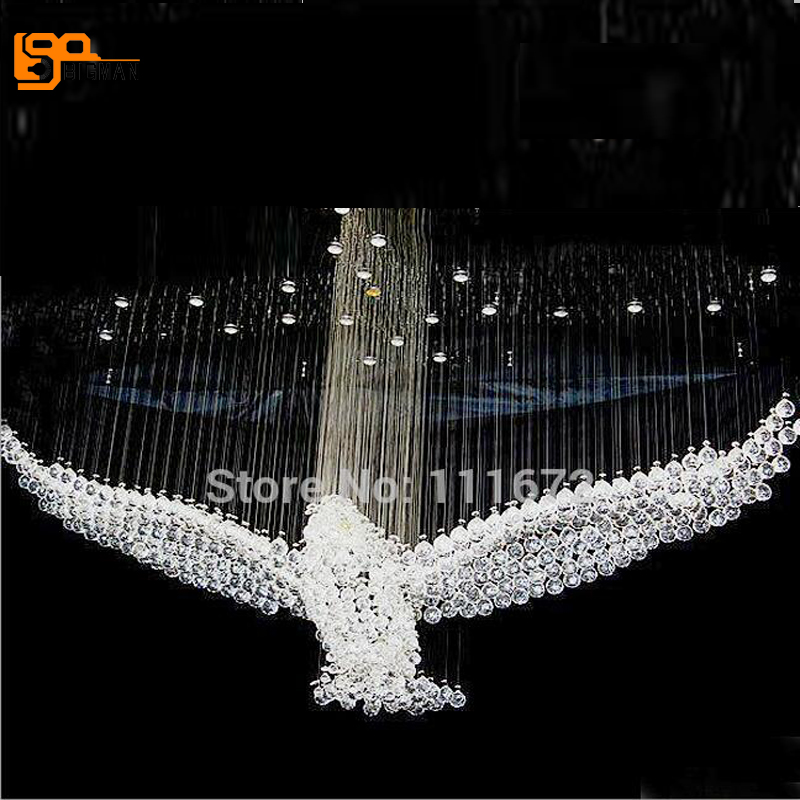 new bird design crystal chandelier lighting large contemporary chandeliers hall lights in. Black Bedroom Furniture Sets. Home Design Ideas