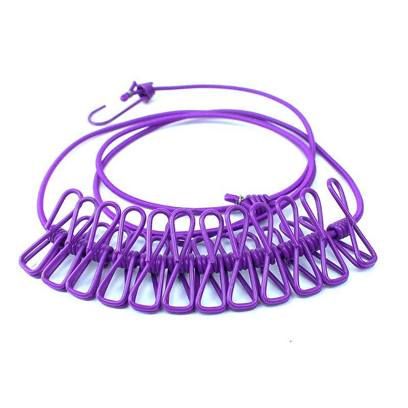 Outdoor Clothes Line Camping Travel Stretchy Clothesline /& 12 Clips Hot Sale