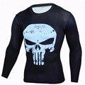2017 fashion anime t-shirt punisher superhero superman camiseta de los hombres camisa de compresión medias de fitness crossfit brand clothing