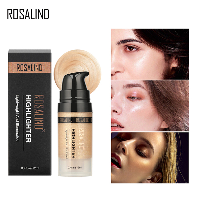 ROSALIND Highlighter Illuminator Full Professional Glow Makeup Face Bronzer Shimmer And Shine Golden Rose Highlight Maquillage