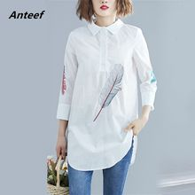 cotton linen spring summer vintage korean style plus size Casual loose shirt women blouse 2019 clothes ladies tops streetwear(China)