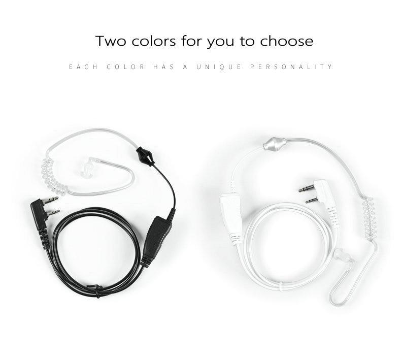 2-color Selection Walkie-talkie Earphone Air Duct Telephone Headphone Cord Universal K Head M Head Y Head Ear Hook Earphone