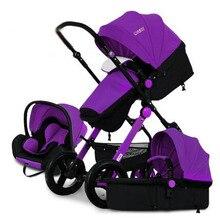Pinturicchio centenaire multifonctionnel bébé poussette bébé voiture suspension lumière pliage