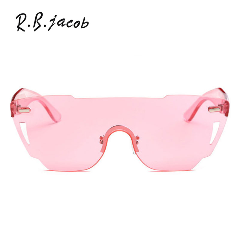 2017 New Style Goggle Women Sunglasses Oversize Cat Eye Lady Sun Glasses Fashion Big Size Clear Female Pink Eyewear Summer Hot