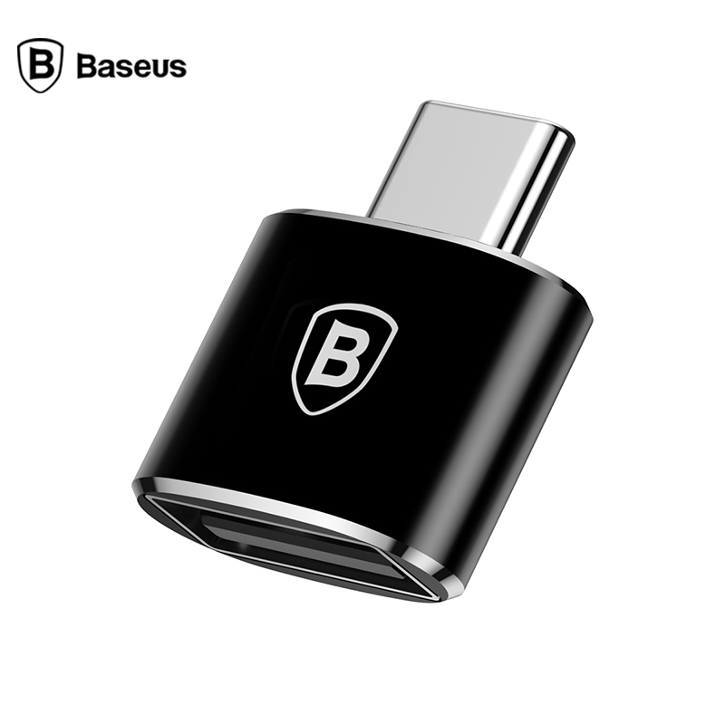 Baseus USB Type C OTG Adapter Converter For Samsung Note 8 S8 Xiaomi Type-c Male To USB Female OTG Converter Charger USB C Cable