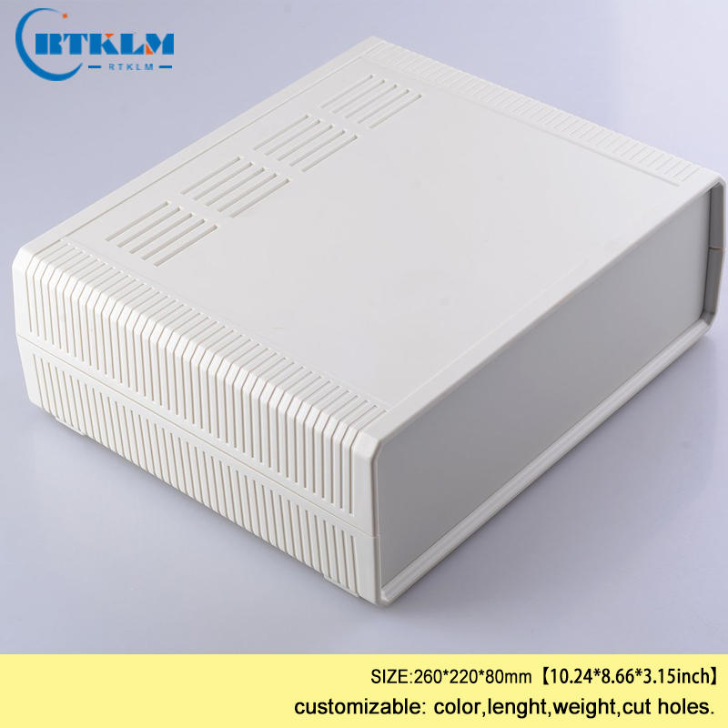 цена на ABS plastic box for electronic projects junction box diy desktop distribution box plastic speaker enclosure 260*220*80mm 1piece