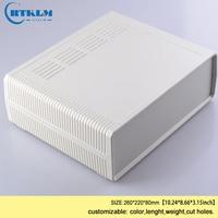 Abs Plastic Doos Voor Elektronische Projecten Junction Box Diy Desktop Verdeelkast Plastic Speaker Behuizing 260*220*80mm 1 Stuk