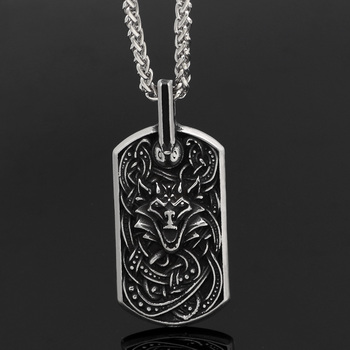 316l Norse Viking Viking Wolf Scandinavian Pendant Necklace  Viking Necklace