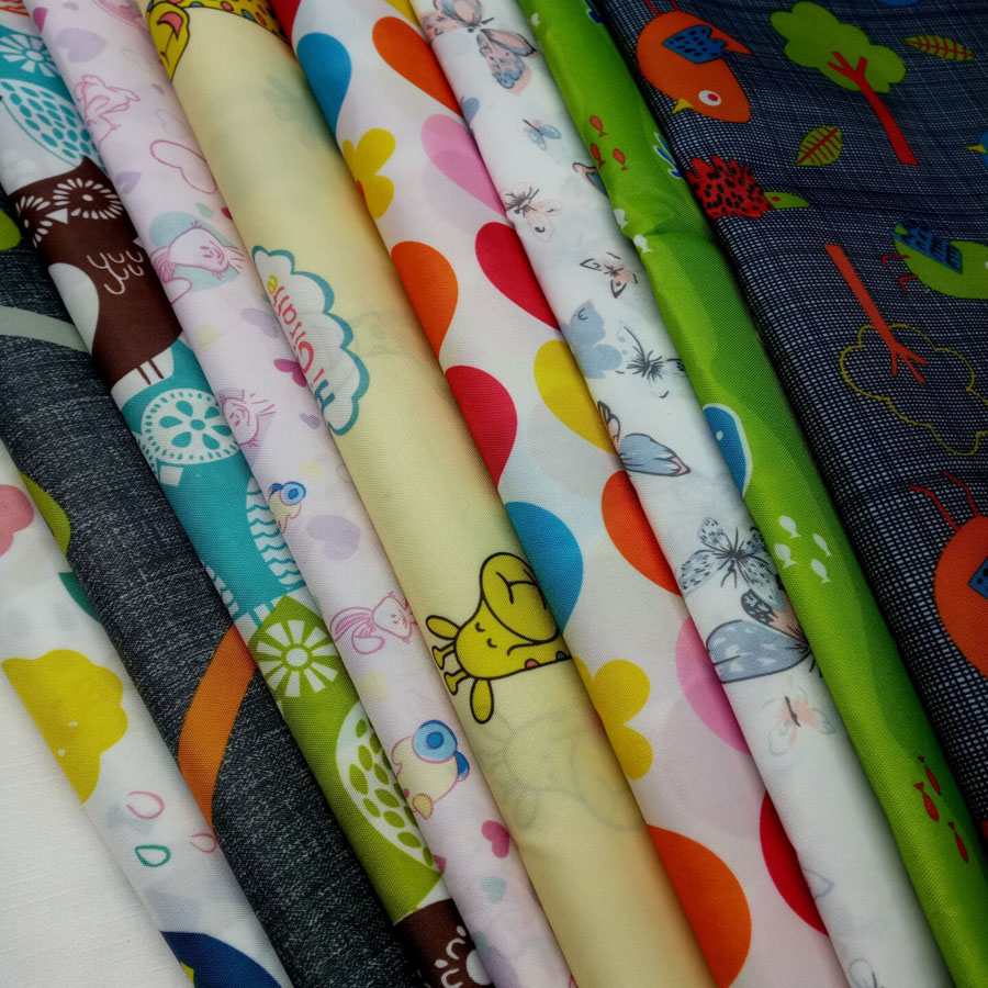 Waterproof fabric printed Oxford Polyester clear coating for kite fabric umbrella raincoat cloth