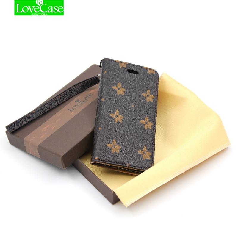 LoveCase i8 7plus Luxury Flip Folio Leather Case For <font><b>iPhone</b></font> 7 Plus 8 Plus Fashion Wallet Style Phone Bag high quality phone case