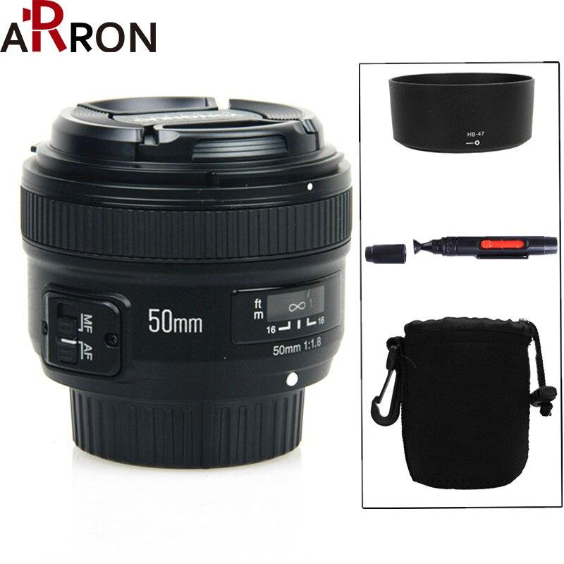 Qualité Product100 % YongNuo 50mm f/1.8 AF objectif YN 50mm ouverture mise au point automatique grande ouverture pour Nikon DSLR caméra aussi AF-S 50mm 1.8G