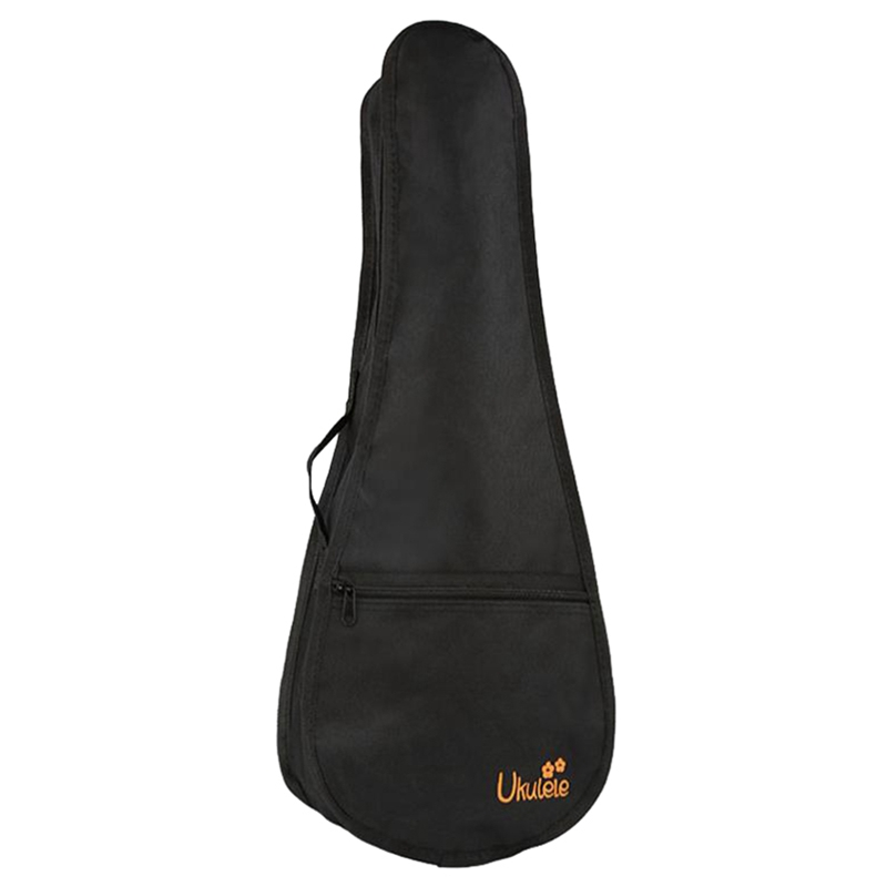 23 Inch Black Uke Bag Portable Ukulele Gig Bag Soft Case Waterproof Backpack Bag