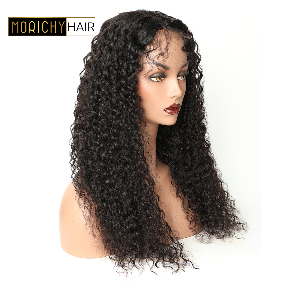 Morichy 4x4 Curly Human Hair Wig With Baby Hair Pre Plucked Lace Closure Wig For Black Women Lace Wig Brazilian Remy Hair