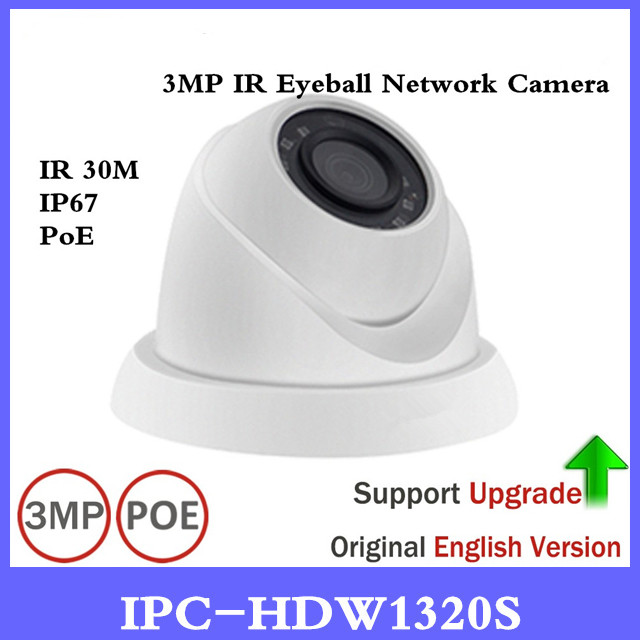 DH IPC-HDW1320S 3MP Mini Dome IP Camera Day/ Night infrared CCTV Camera POE Support Update IP67 Waterproof Security Camera brand 4mp bullet camera ipc hfw1431s wdr day night infrared cctv poe camera support ip67 waterproof security camera system
