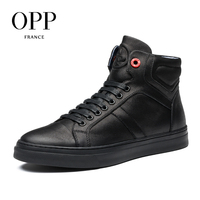 OPP 2017 Genuine Leather Men boots Men Shoes White Winter Boots Comfortable Men Shoes Ankle Boots for men High Top Boots New 5