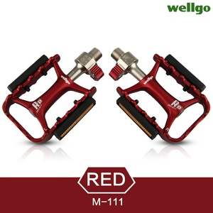 Image 5 - Wellgo Originele M111 Quick Release Non quick Release Fiets Pedalen Racefiets Ultralight Pedaal MTB Fietsen Bearing Pedalen