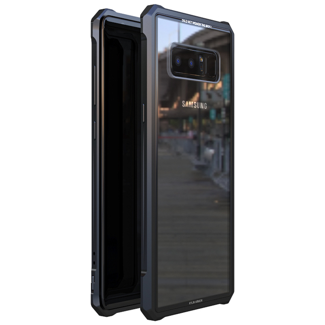 official photos eddca ed3fd US $11.93 47% OFF|Metal Frame Case sFor Samsung Note8 Case Note 8 S9 S8  Plus S9Plus Clear Glass Back Cover Armor For Samsung Galaxy Note 8 Case -in  ...