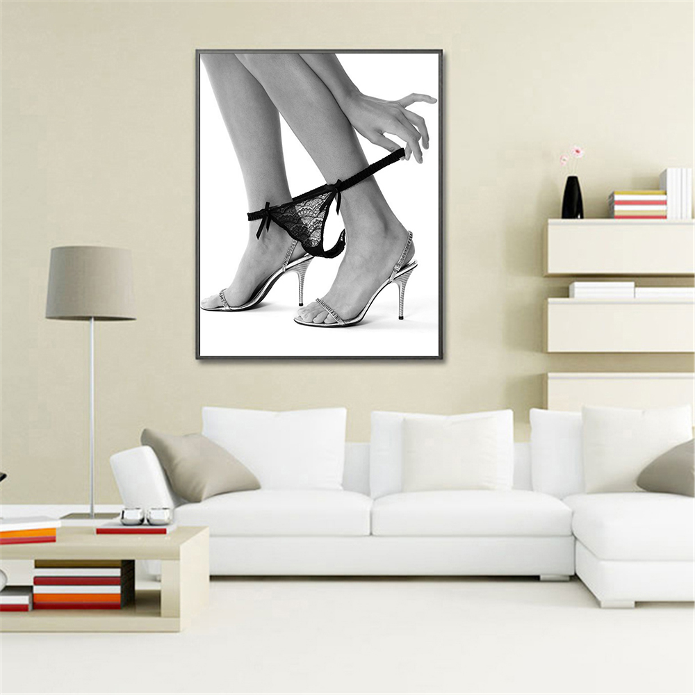 Canvas Painting Sexy Legs Poster Black White Wall Art Pictures Bedroom Bathroom Decoration Modern Paint With Free Shipping Worldwide Weposters Com