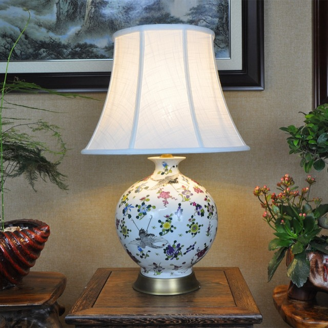 Art chinese porcelain ceramic table lamp bedroom living room wedding art chinese porcelain ceramic table lamp bedroom living room wedding table lamp jingdezhen table lamp desk aloadofball Images