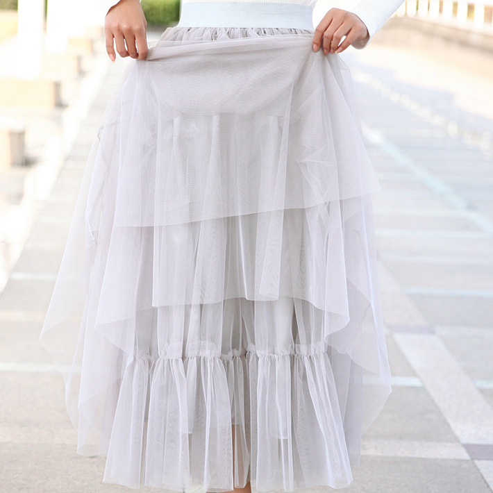 d3782a572a Top sale Spring & Summer Ladies Tea Length Tulle Tutu Skirt-in Skirts from  Women's Clothing on Aliexpress.com | Alibaba Group