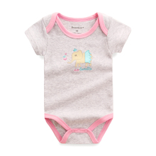 3Pcs/Lot Newborn Cotton Baby Clothes Cartoon Printed Short Sleeve